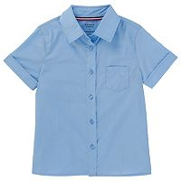 Girls 4-20 & Plus Size French Toast School Uniform Short-Sleeved Pointed Collar Blouse