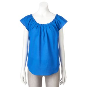 Women's LC Lauren Conrad Pleated Poplin Top