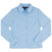 Girls 4-20 & Plus Size French Toast School Uniform Long-Sleeved Pointed Collar Blouse
