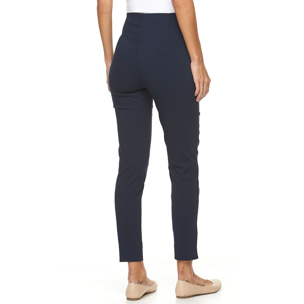 Women's Croft & Barrow® Pull-On Twill Tapered Ankle Pants