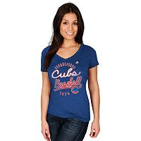 Women's Majestic Chicago Cubs Game Fanatic Tee