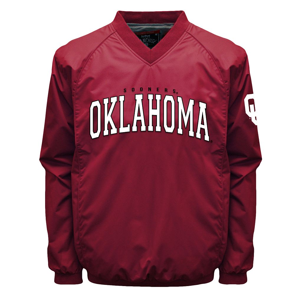 Men's Franchise Club Oklahoma Sooners Coach Windshell Jacket