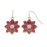 Poinsettia Drop Earrings