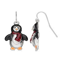 Penguin Scarf Drop Earrings