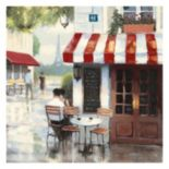 Artissimo Relaxing At The Cafe Canvas Wall Art