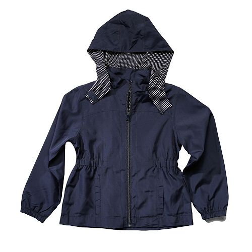 Girls 4-16 French Toast School Uniform Detachable Hood Lightweight Jacket