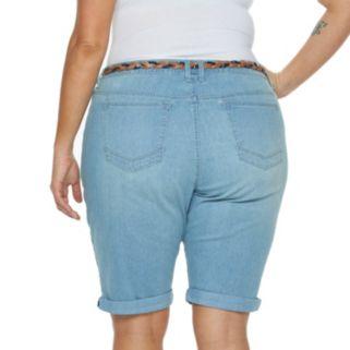 Plus Size Gloria Vanderbilt Rachel Bermuda Jean Shorts