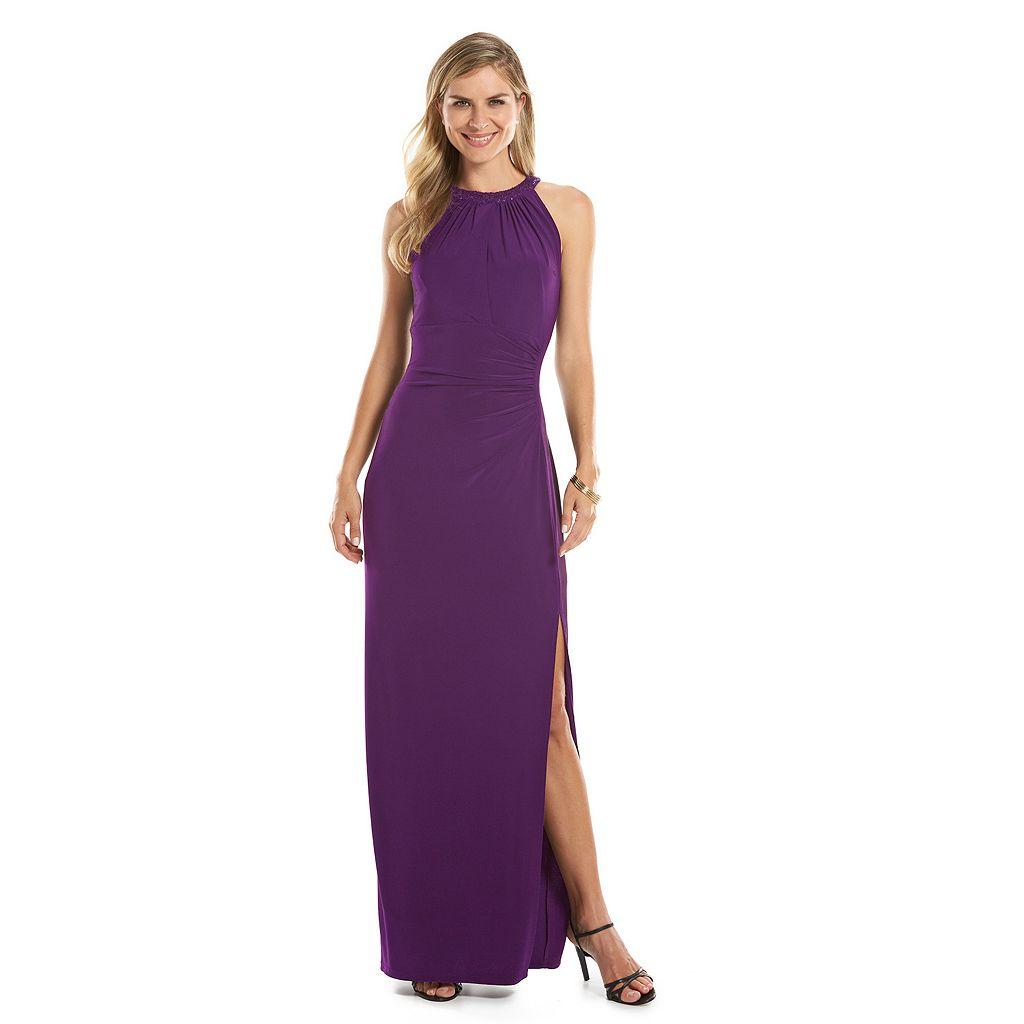 Women's Chaps Sequin-Trim Evening Gown