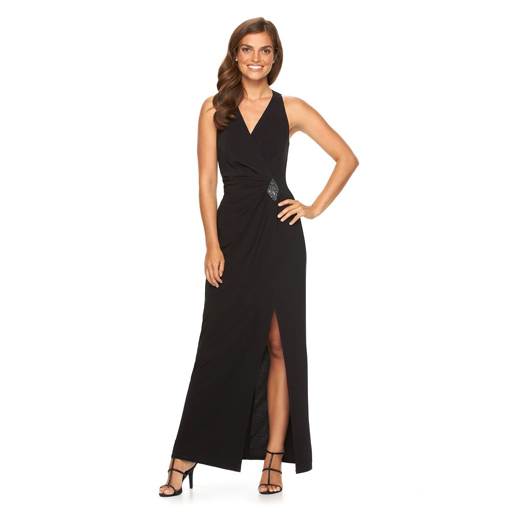 Women's Chaps Embellished Pleated Evening Gown
