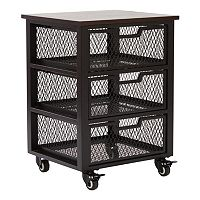 OSP Designs Garret 3-Drawer Rolling Cart