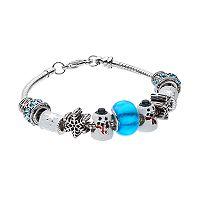 Snowflake & Snowman Charm Bracelet