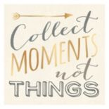 "Artissimo ""Collect Moments Not Things"" Canvas Wall Art"