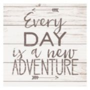 "Artissimo ""Every Day Is A New Adventure"" Arrow Canvas Wall Art"