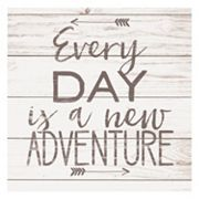 Artissimo 'Every Day Is A New Adventure' Arrow Canvas Wall Art