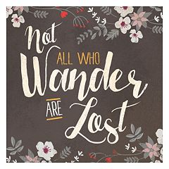 Artissimo 'Not All Who Wander Are Lost' Floral Canvas Wall Art