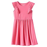 Girls 4-10 Jumping Beans® Ruffle Flutter Solid Skater Dress