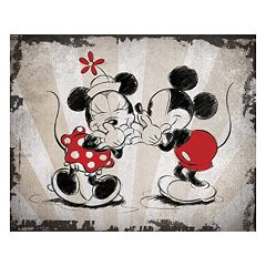 Disney's Mickey Mouse & Minnie Mouse Laughing Canvas Wall Art