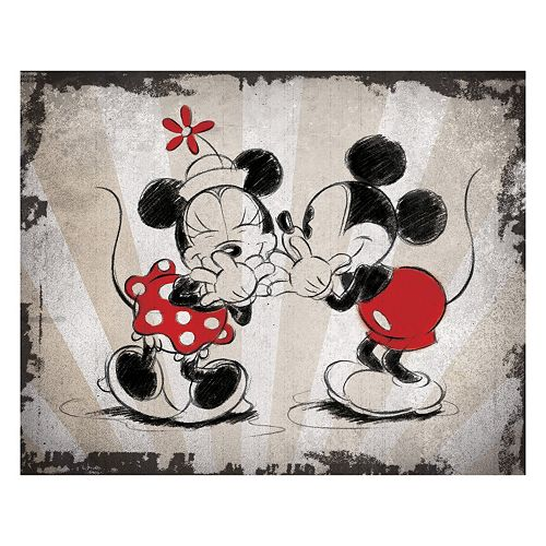Disney S Mickey Mouse Amp Minnie Mouse Laughing Canvas Wall Art