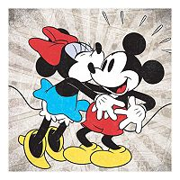 Disney's Mickey Mouse & Minnie Mouse Kiss Canvas Wall Art