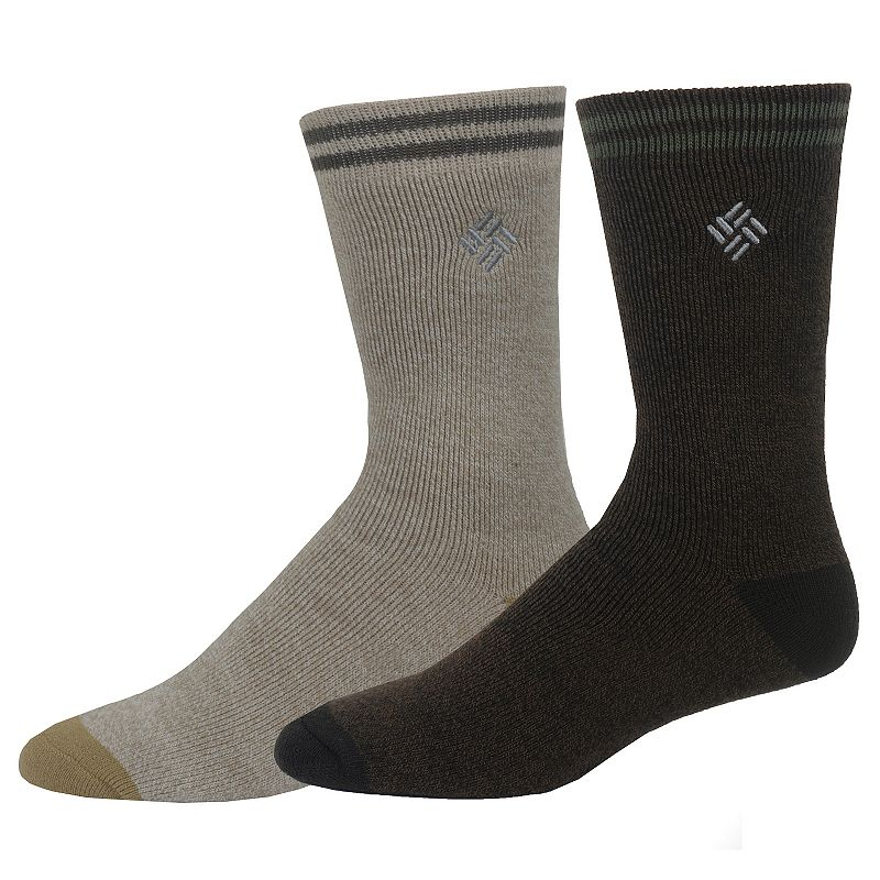 Men's Columbia Thermal Crew Socks, Size: 10-13, Brown Warm and comfortable, Columbia thermal crew socks are a perfect choice for exceptionally cold days Cushioned Sole Fits shoe size: 10-13 Fabric & Care Polyester, acrylic, wool, rubber Machine wash Imported Color: Brown. Gender: Male. Age Group: Adult. Pattern: Solid. Material: Cotton Blend.