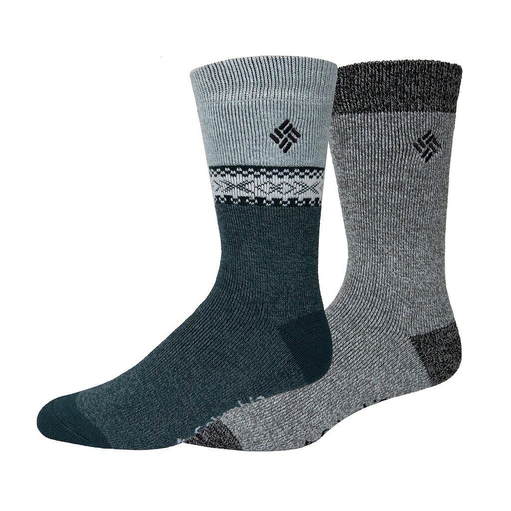 Men's Columbia 2-pack Medium Weight Thermal Crew Socks