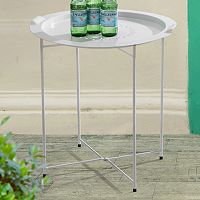 Sunjoy Outdoor Serving Tray End Table