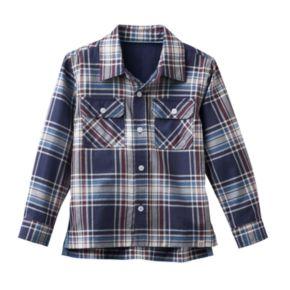 Toddler Boy No Retreat Plaid Shirt