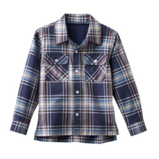 Toddler Boy No Retreat Plaid Shirt