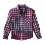 Toddler Boy No Retreat Red Plaid Shirt