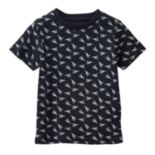 Toddler Boy No Retreat Short Sleeve Rocket Ship Patterned Tee
