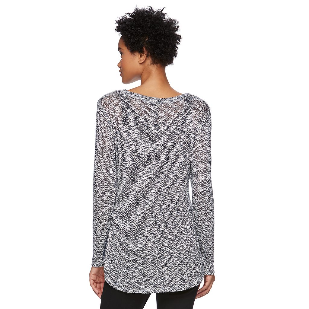 Juniors' Trixxi Lace Side Tunic Top