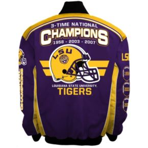 Men's Franchise Club LSU Tigers Champions Twill Jacket