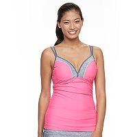 Women's Free Country Colorblock Underwire Tankini Top