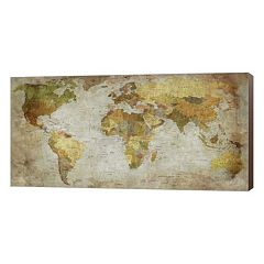 Metaverse Art Anima Mundi Map Canvas Wall Art