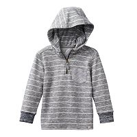 Toddler Boy No Retreat Multi-Striped 1/4-Zip French-Terry Hooded Pullover