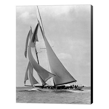 Metaverse Art The Schooner Half Moon at Sail Canvas Wall Art