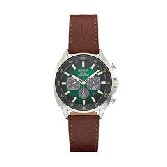 Seiko Men's Recraft Leather Chronograph Solar Watch - SSC513