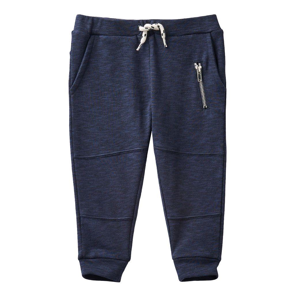 Toddler Boy No Retreat Navy Knit Jogger Pants