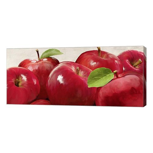 Metaverse Art Red Apples Canvas Wall Art