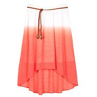 Girls 7-16 IZ Amy Byer Dip-Dye Gauze Belted High-Low Skirt