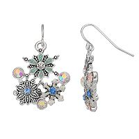 Snowflake Cluster Drop Earrings