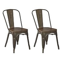 OSP Designs Indio Metal Dining Chair 2-piece Set
