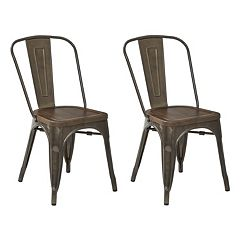 OSP Designs Indio Metal Dining Chair 2 pc Set