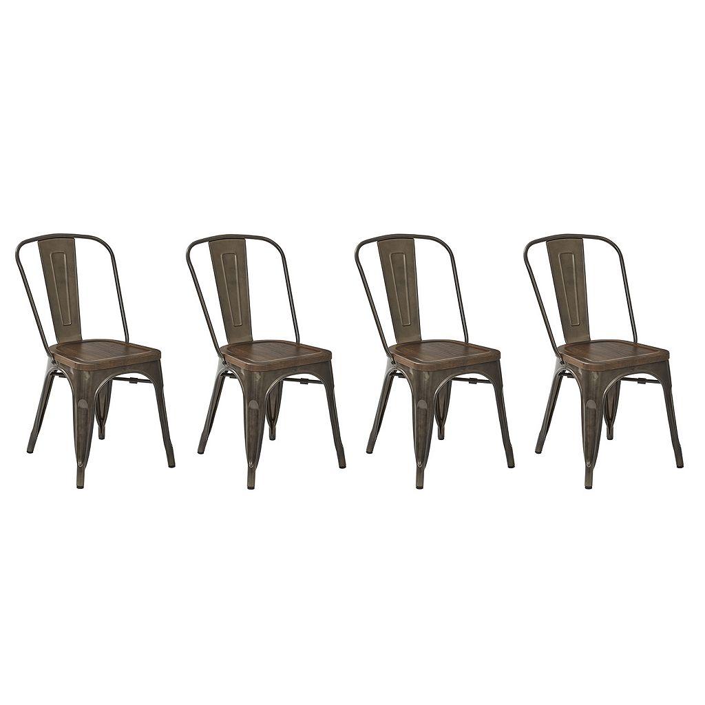 OSP Designs Indio Metal Dining Chair 4-piece Set