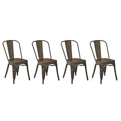OSP Designs Indio Metal Dining Chair 4 pc Set