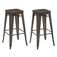 OSP Designs Metal Bar Stool 2-piece Set