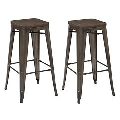 OSP Designs Metal Bar Stool 2 pc Set