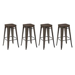 OSP Designs Metal Bar Stool 4 pc Set