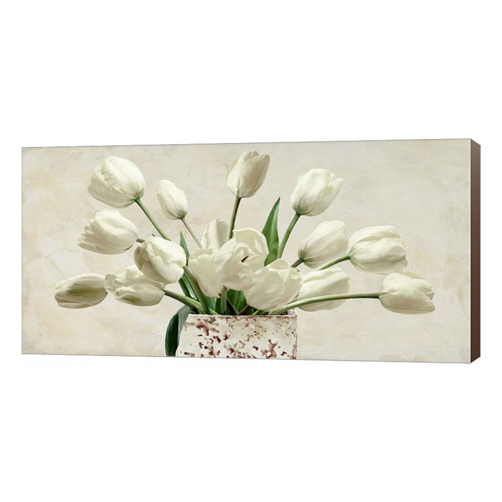 Metaverse Art Bouquet Blanc Canvas Wall Art