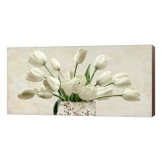 Metaverse Art Bouquet Blanc Canvas Wall Art